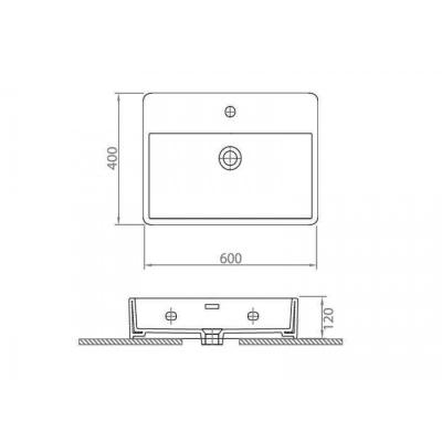CONTOUR 61060 - Vas Lavoar 600χ400χ120mm [1]