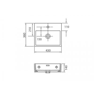 DAPHNE 53708 - Vas Lavoar 430x360x140mm1