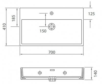 DAPHNE 53710 - Vas Lavoar 700χ410χ140mm1