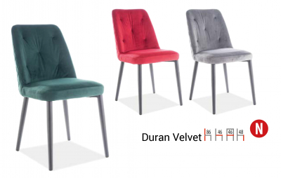 Scaun Duran Velvet Gri , l46 x A46 x H86 cm [1]