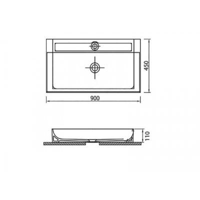 EDGE 6490 - Vas Lavoar 900χ450χ110mm1