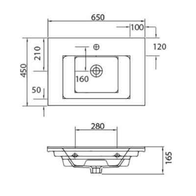 ETNA 1065 - Vas Lavoar 650x450x165mm [1]
