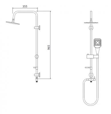 GIOTA - Duș cu coloană fixă1