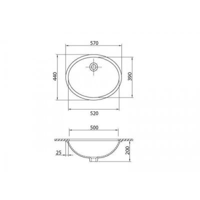 HILTON 4100 - Vas Lavoar 570x440x200mm [1]