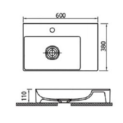 INFINITY 6160 - Vas Lavoar 600x380x110mm1