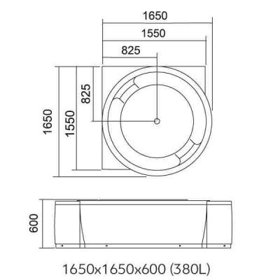 LIBERA - Cada de colt hidromasaj 1650x16502