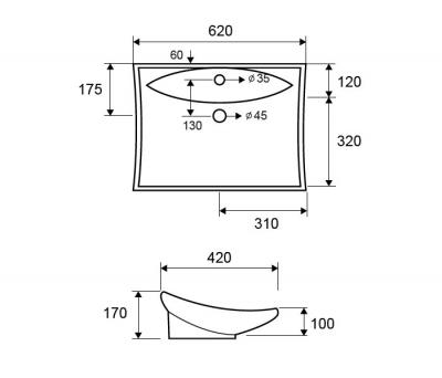 LT 1015 - Vas Lavoar 620x420x170mm [1]