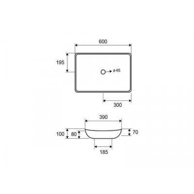 LT 1018 - Vas Lavoar 600x390x100mm [1]