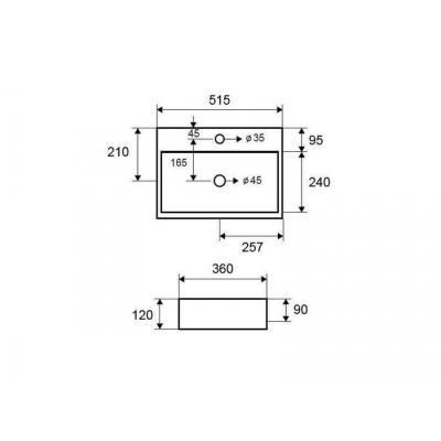 LT 2082 - Vas Lavoar 515x360x120mm [1]