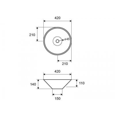 LT 3133 - Vas Lavoar 420x420x140mm [1]