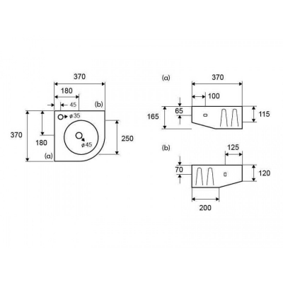 LT 5006 - Vas Lavoar 370x370x165mm [1]