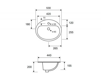 LT 6001 - Vas Lavoar 530 x 440 x 200 mm [1]