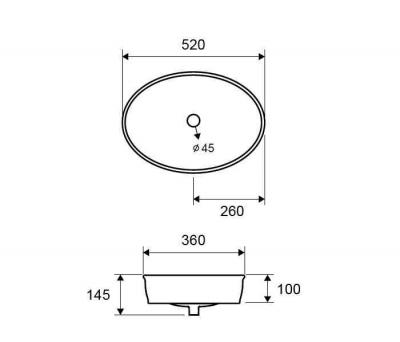 LW 10150 - Vas Lavoar 520χ360χ145mm [1]