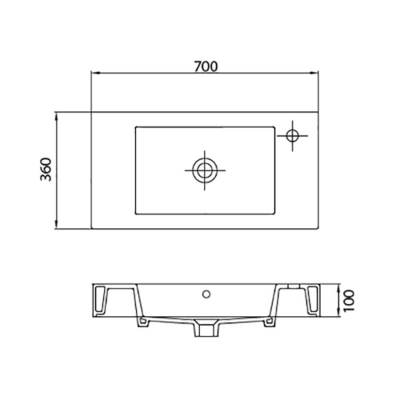 MINOS 4054 - Vas Lavoar 700χ360χ100mm [1]