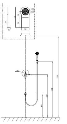 Set mixer dus si cascada - NEW ZOE CASCADA [1]