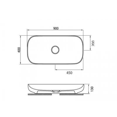PREMIUM 6290 - Vas Lavoar 900χ400χ130mm [1]