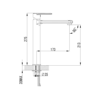 Baterie mixer inalt lavoar - PEARL [1]