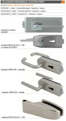 AMBER 5 - Usa Interior Sticla securizata cu toc MDF [4]