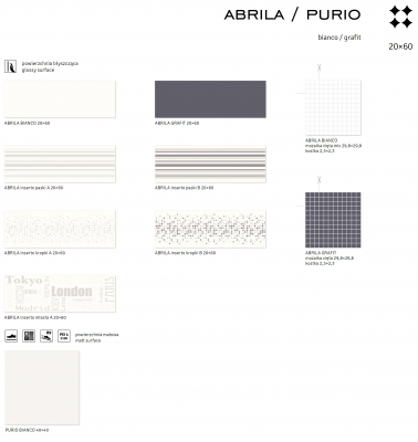 Bianco/Grafit - ABRILA/PURIO1