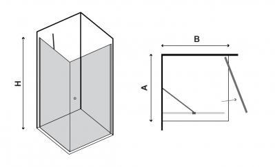 Cabina de Dus - NERO BOX (NERO PIVOT + NERO FREE 1) [1]