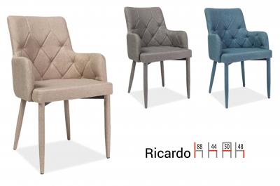 Scaun Ricardo Stofa Gri -  l50 x A44 x H88 cm [1]