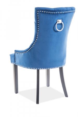 Scaun Edward Velvet Albastru – 55x45x99 cm lxAxh [1]