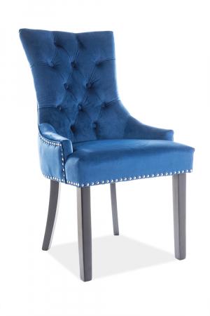 Scaun Edward Velvet Albastru – 55x45x99 cm lxAxh [0]