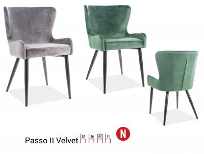 Scaun Passo II VelvetVerde – l43 x A46 x H86 cm2