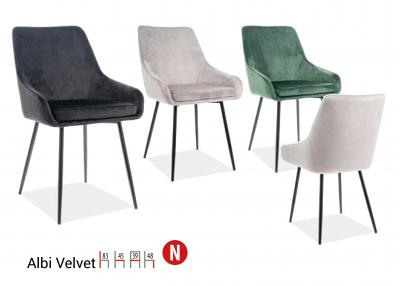Scaun Albi Velvet Negru – l39 x A45 x H83 cm [1]