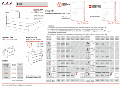Set Dormitor Elle - configuratie propusa: [1]