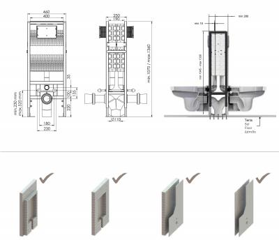T05-2115 Set de 2 rezervoare wc incorporate1