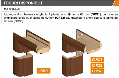 AMBER 5 - Usa Interior Sticla securizata cu toc MDF [3]