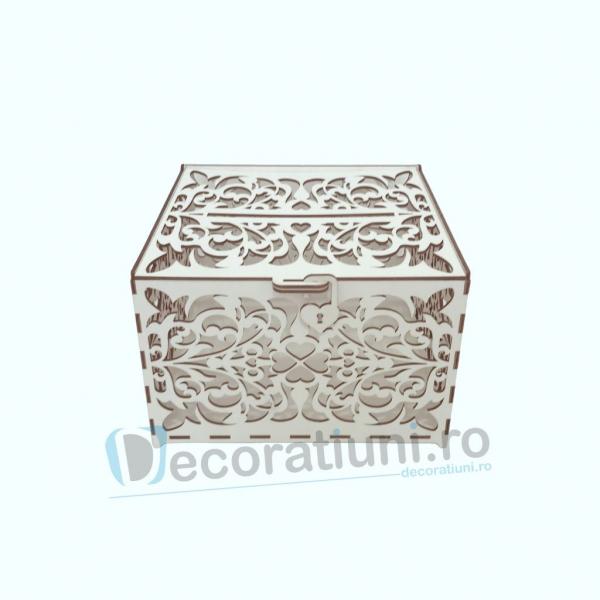 Cutie din lemn pentru dar - model Romantic 0
