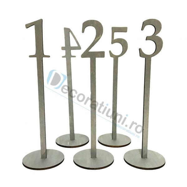 Numere de masa pentru nunta - model basic cu suport 1