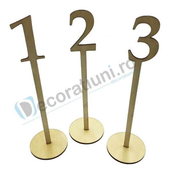 Numere de masa pentru nunta - model basic cu suport 0