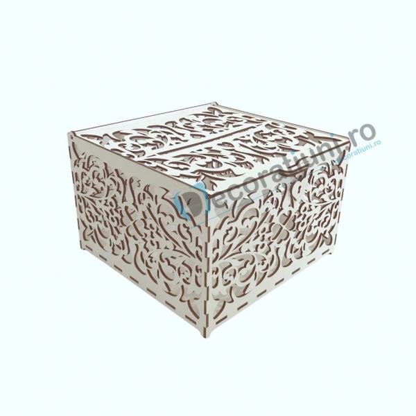 Cutie din lemn pentru dar - model Romantic 2