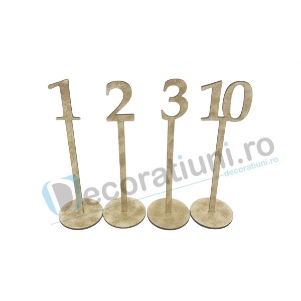 Numere de masa pentru nunta - model basic cu suport 2