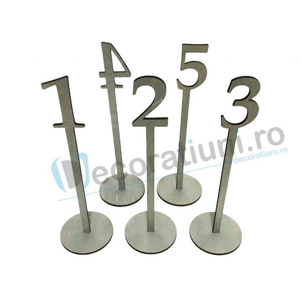 Numere de masa pentru nunta - model basic cu suport 3