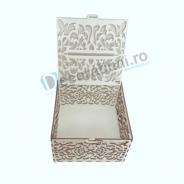 Cutie din lemn pentru dar - model Romantic 4