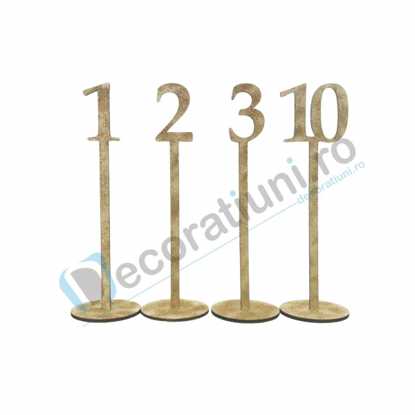 Numere de masa pentru nunta - model basic cu suport 4
