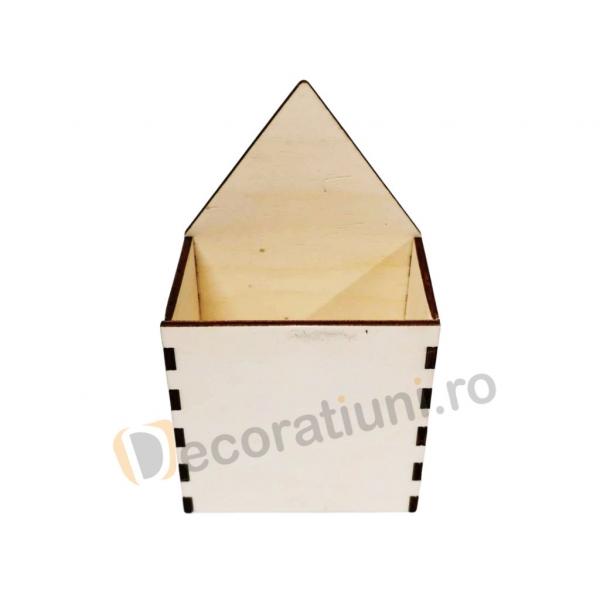 Organizator birou din lemn - model creion 4