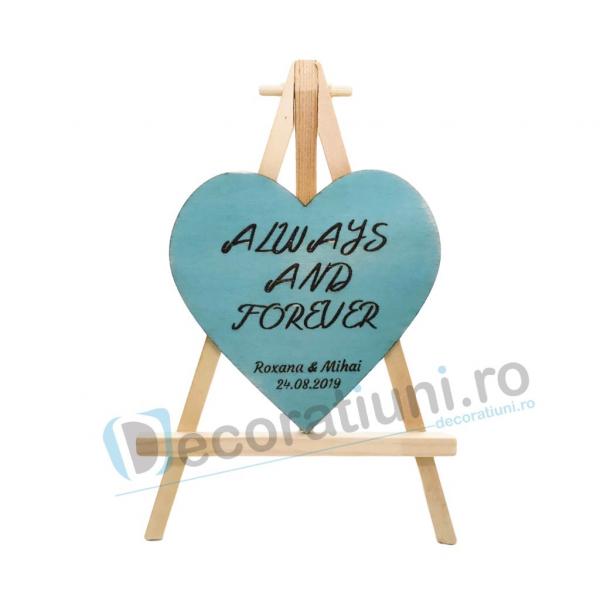 Marturie din lemn cu magnet pentru nunta - model SweetHeart [0]