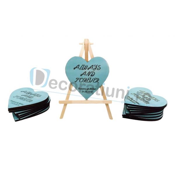 Marturie din lemn cu magnet pentru nunta - model SweetHeart [5]
