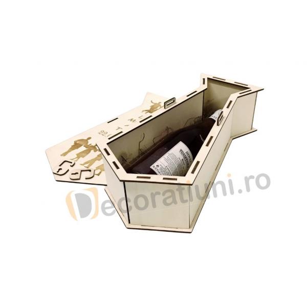 Cutie din lemn pentru vin - model cravata 5