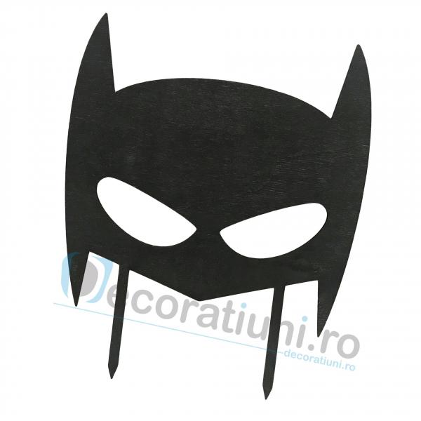 Cake topper pentru copii din lemn - model Batman 1