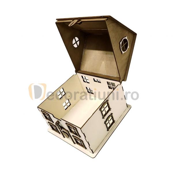 Casa din lemn pentru dar - model Casuta Noastra 6