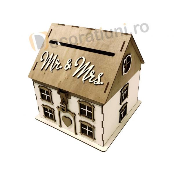 Casa din lemn pentru dar - model Casuta Noastra 2