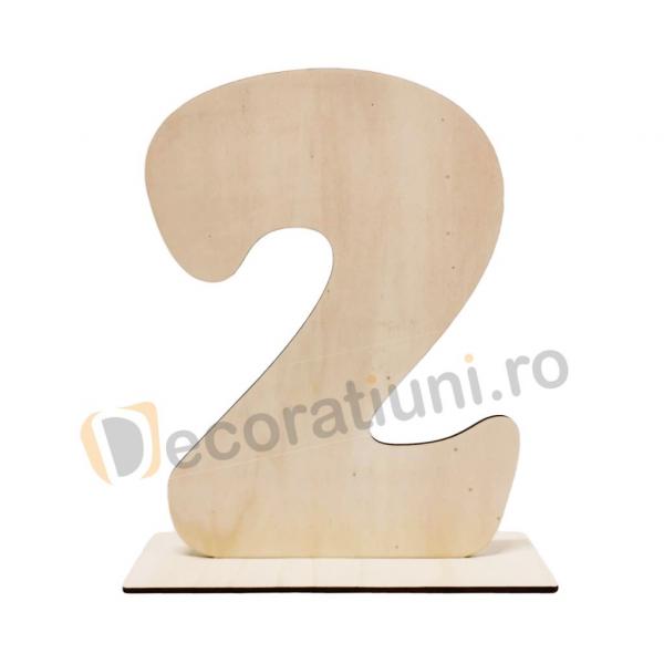 Cifra din lemn cu suport - 30cm inaltime 0