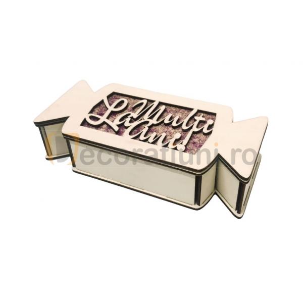 Cutie cadou din lemn pentru Craciun - model bomboana [6]