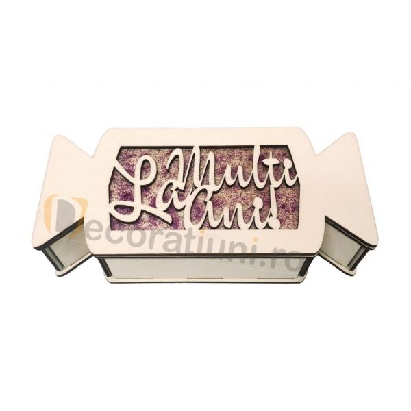 Cutie cadou din lemn pentru Craciun - model bomboana [0]